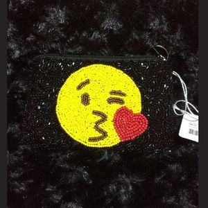 Emoji Hand Beaded Kissyface BK Coin Purse Keyring